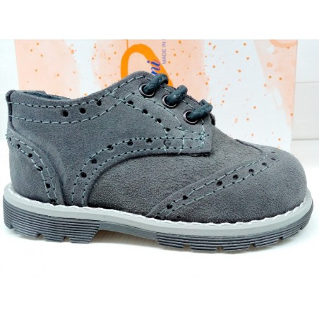 scarpe bambino francesine in camoscio grigio made in Italy