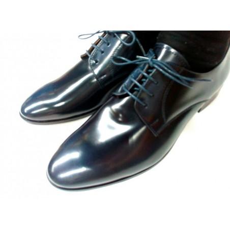 scarpe uomo classiche in pelle blu made in Italy