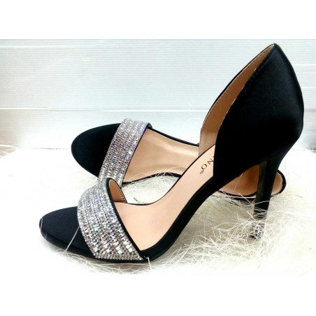 sandali eleganti donna tacco medio alto colore nero