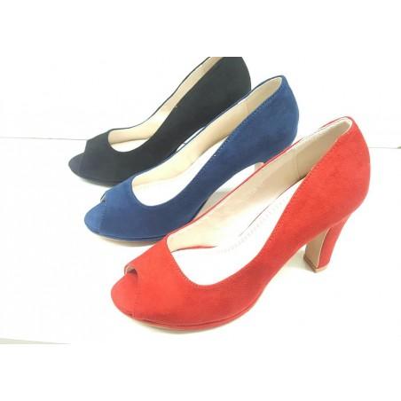 Spuntatine donna in tre colori,rosso,nero,blu