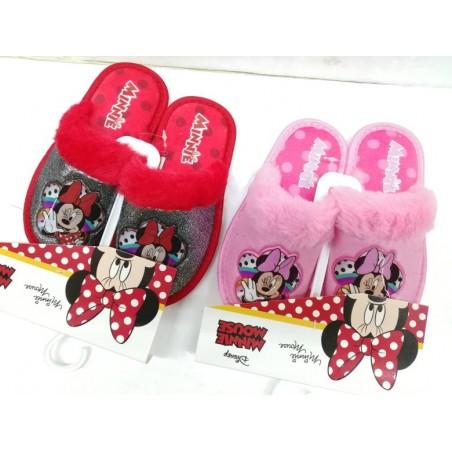 Pantofole MINNIE rosa e rossa